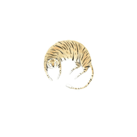 Art print by Maria Lebedeva entitled Tiger, inspired by her love of tigers and Life of Pi.