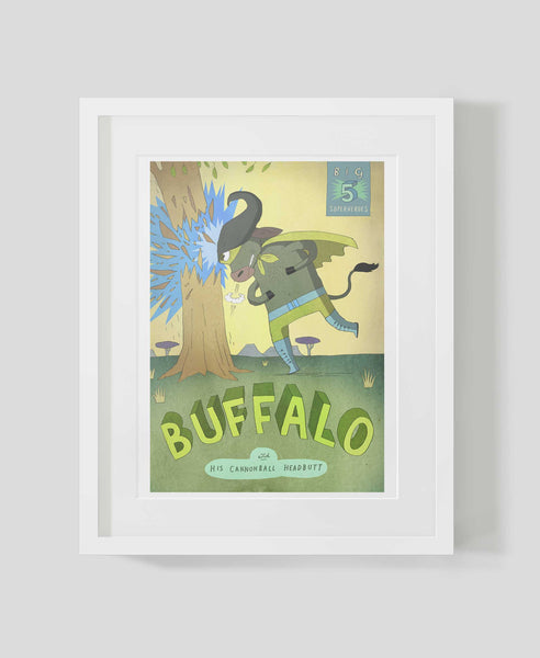 Framed art print Big Five: Buffalo by Patrick Latimer