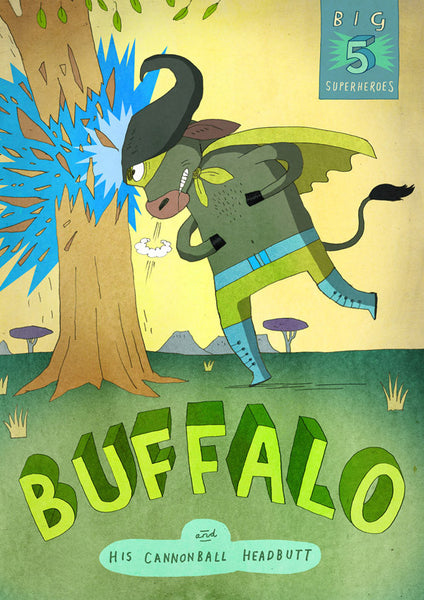 Art print Big Five: Buffalo by Patrick Latimer
