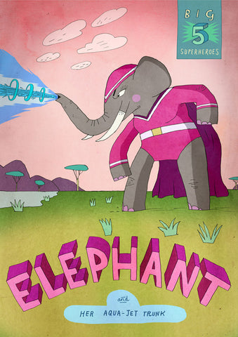 Art print Big Five: Elephant by Patrick Latimer