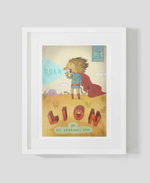 Framed art print Big Five: Lion by Patrick Latimer