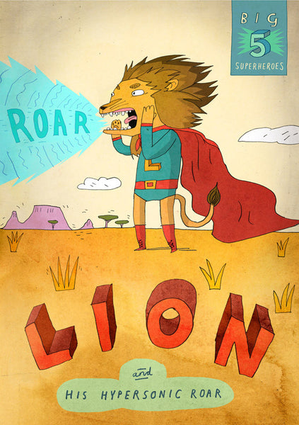 Art print Big Five: Lion by Patrick Latimer