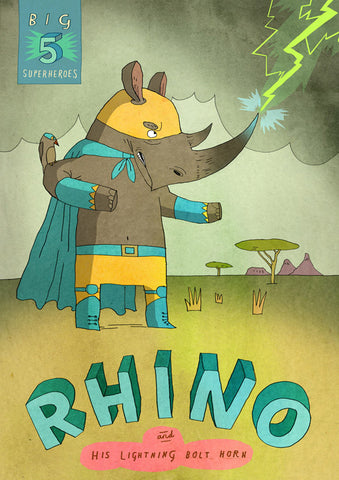Art print Big Five: Rhino by Patrick Latimer