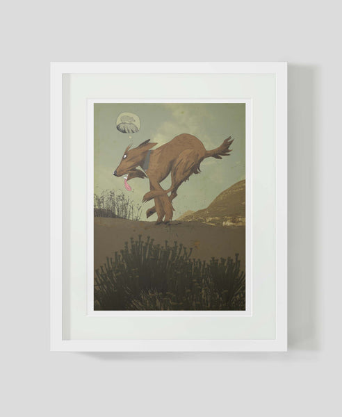 Framed art print Irish Terrier Running by Patrick Latimer