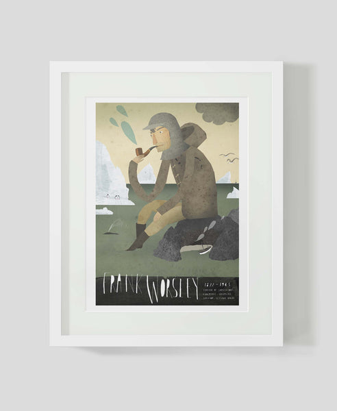 Framed art print Sea Captain: Frank Worsley by Patrick Latimer
