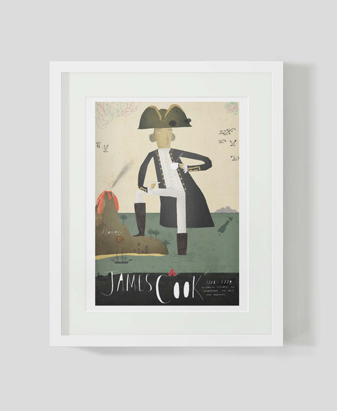 Framed art print Sea Captain: James Cook by Patrick Latimer