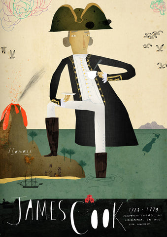 Art print Sea Captain: James Cook by Patrick Latimer