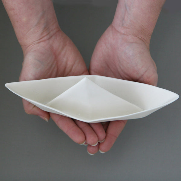 Large porcelain paperboat