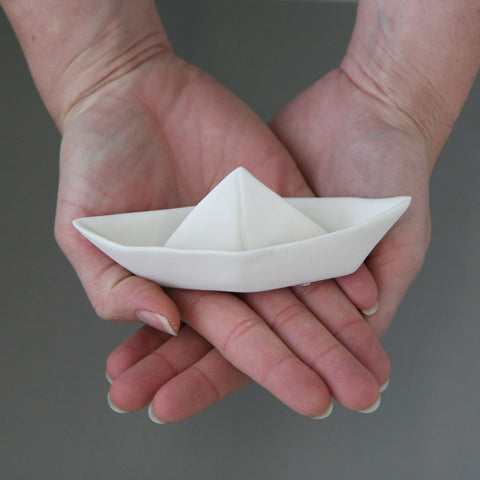Small porcelain paperboat
