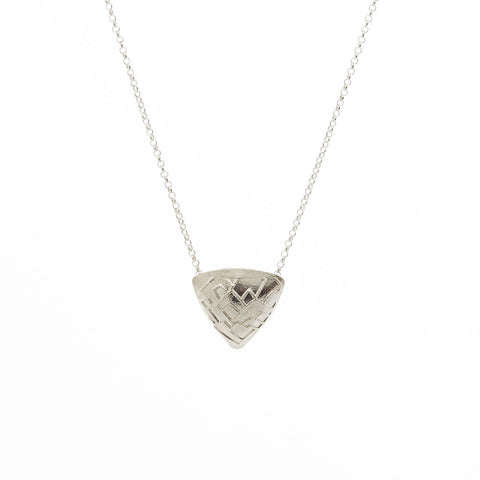 Triangular Shield Pendant Necklace by Reverie Designs