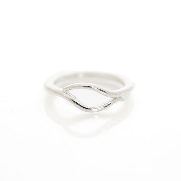 Sterling Silver Convex Wave Ring by Reverie Designs