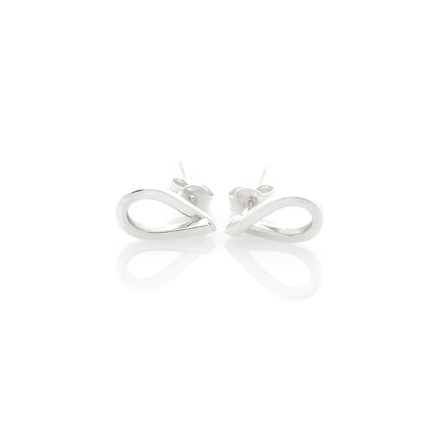 Overlapping Teardrop Studs by Long Jean Silver