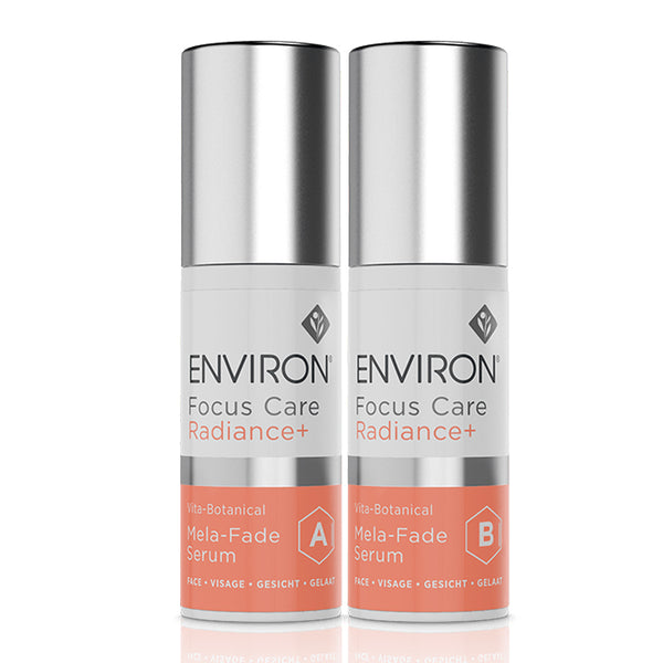 Environ Focus Care Radiance+ Mela-Fade Serum System A+B SAVE 10%