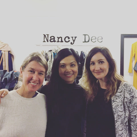 Brand creators Alison (Ally-Bee knitwear), Rhoda (P.I.C Style) and Seraphina (Nancy Dee)