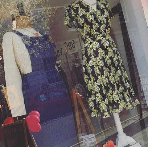 Shop window display featuring Ally-Bee, P.I.C Style and Nancy Dee