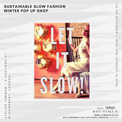 Let It Slow designer pop up sale