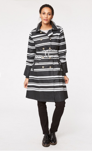 Thought Clothing striped trench