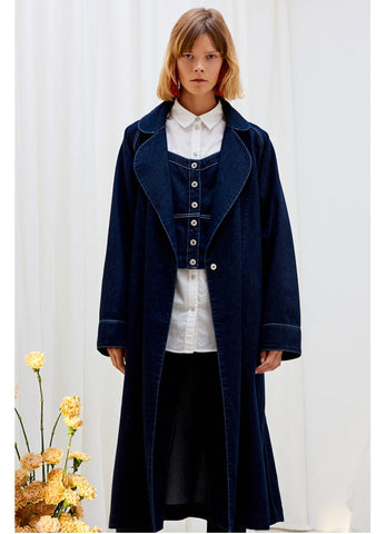 Kowtow denim trench coat