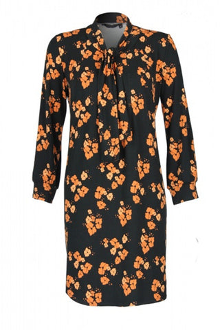 Frida Tunic Rust Poppies print