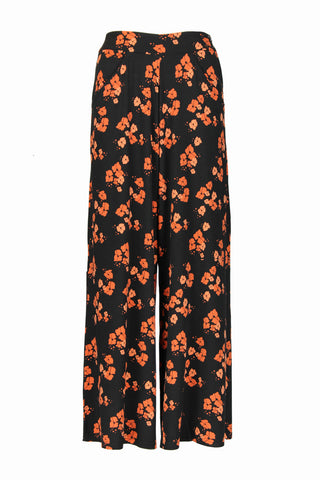 Jagger Palazzo Orange Poppies
