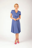 Charlotte Wrap Dress Ocean Blue