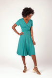 Charlotte Wrap Dress Sea Green