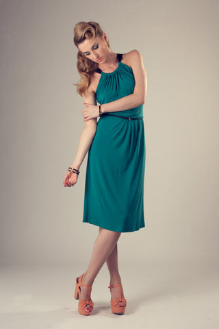 Carla Sea Green Halter Neck