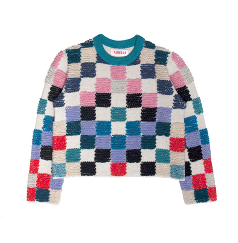 LOOP PIXEL CROP SWEATER