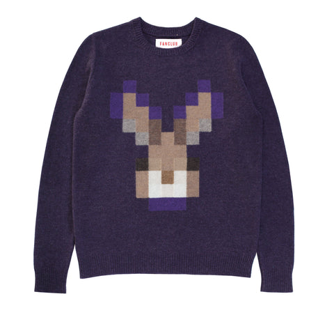RABBIT PIXEL CREW SWEATER