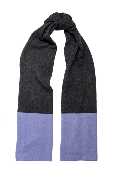 SUNSET SCARF CHARCOAL/LAVENDER
