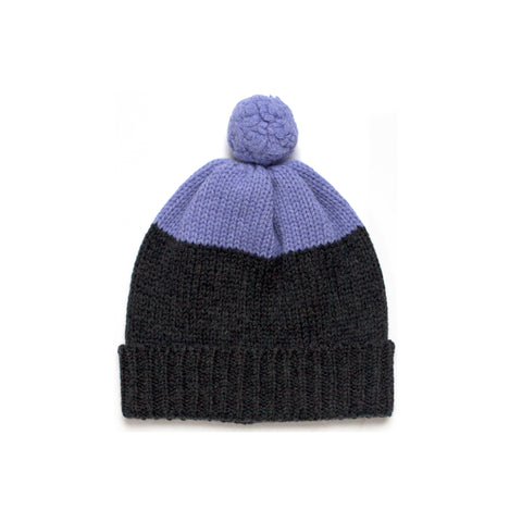 SUNSET BEANIE CHARCOAL/LAVENDER