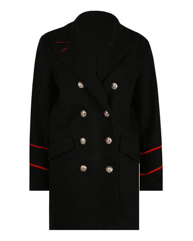 Double breasted black wool peacoat - Jezzelle