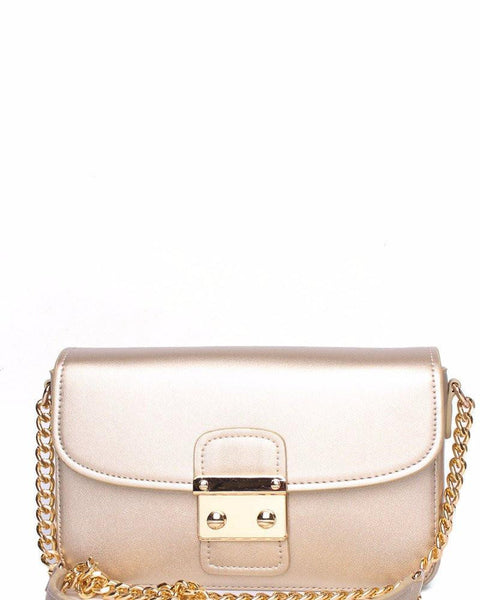 Chain Strap Classic Gold Shoulder bag - Jezzelle