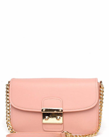 Chain Strap Classic Rose Shoulder bag - Jezzelle