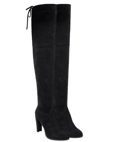 High heel over the knee faux suede boots-Jezzelle