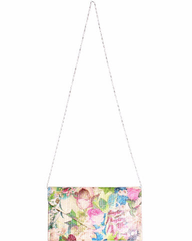 Floral Print Envelope Shoulder Bag - Jezzelle