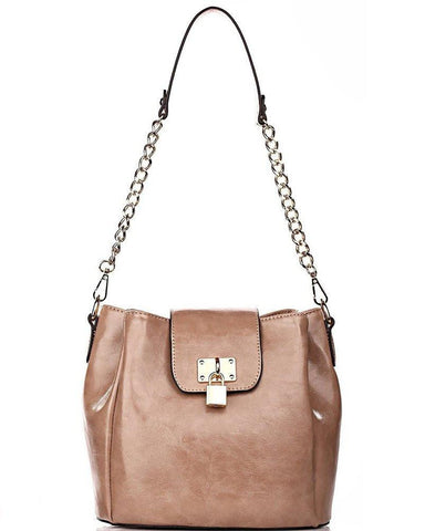 Nude Bucket Shoulder Bag - Jezzelle