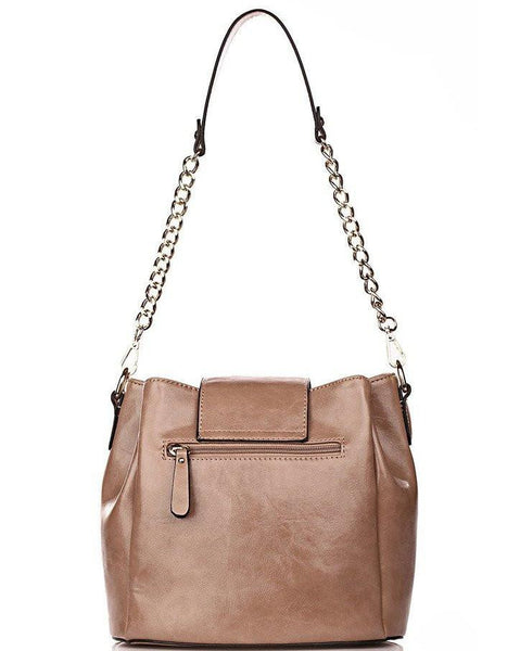 Nude Bucket Shoulder Bag-Jezzelle