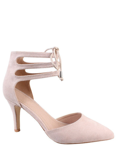 Nude Lace Up Shoes - Jezzelle