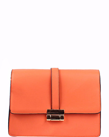 Smart Orange Shoulder Bag - Jezzelle