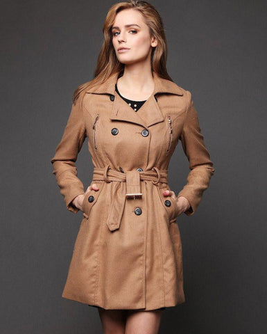 Button Up Trench Coat - Jezzelle