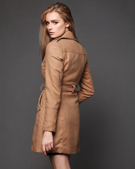 Button Up Trench Coat - jezzelle  - 2