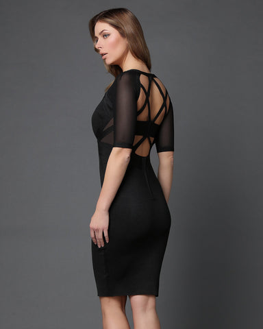 Cage Back Bodycon Dress - Jezzelle