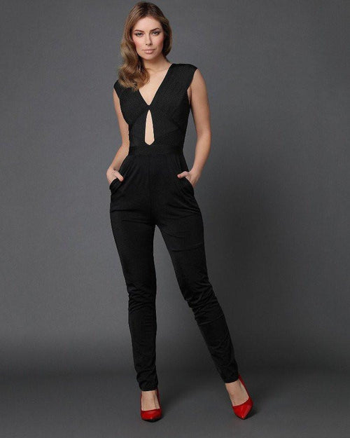 Cut Out Details Skinny Jumpsuit - Jezzelle