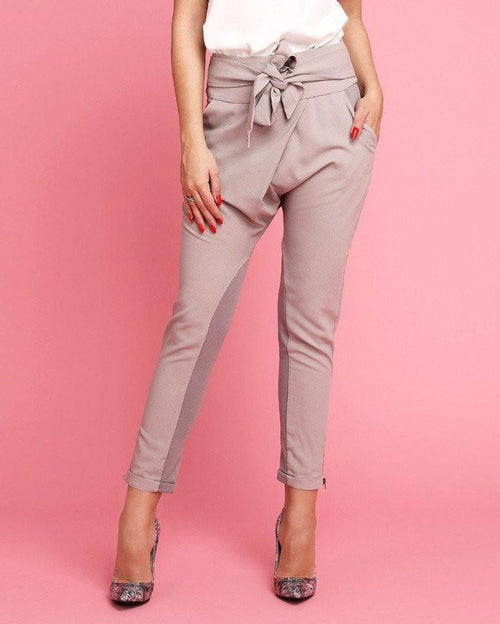 Crossover Sash Tie Trousers-Jezzelle