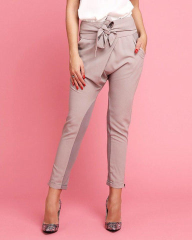 Crossover Sash Tie Trousers - Jezzelle