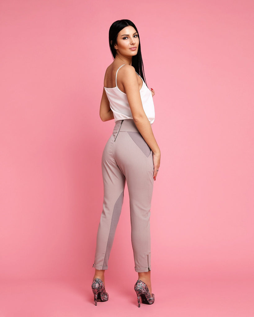 Crossover Sash Tie Trousers - jezzelle  - 3