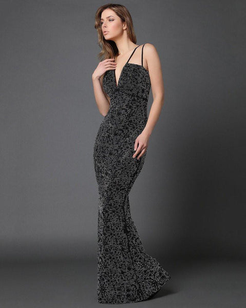 Diamante Maxi Dress-Jezzelle