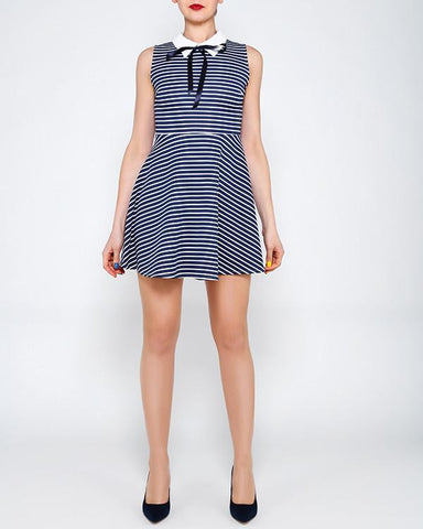Nautical Skater Dress - Jezzelle