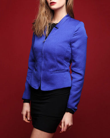Rose Petal Texture Fitted Blazer - Jezzelle